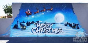 Merry Christmas Mural