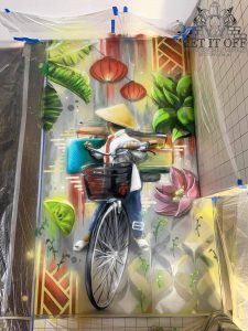 Shopping Centre Restaurant Feature Wall_CloseUp