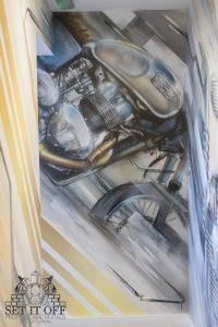 Triumph Motorcycle Art_Front
