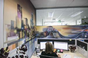 Office Interior Mural - Flux - CharacterW