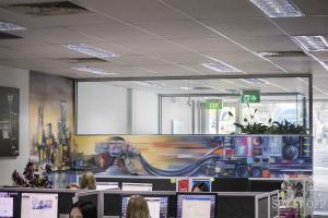 Office Interior Mural - Flux - DistanceW