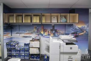 Office Interior Mural - Flux - Futurism 1W