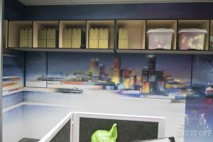 Office Interior Mural - Flux - FuturismW