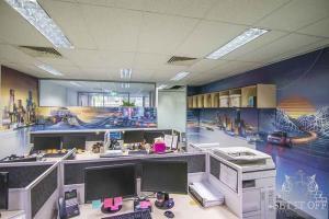 Office Interior Mural - Flux - Pano FullWF