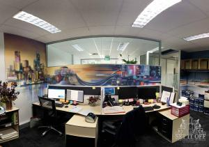Office Interior Mural - Flux - PanoramicW