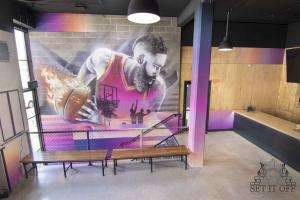 Full Fit Out Interior - Dribbles - Feature Wall 1 Top