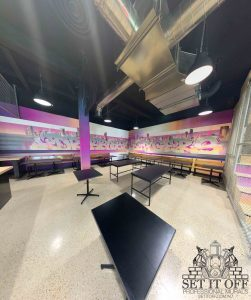Full Fit Out Interior - Dribbles - Feature Wall - Span Panoramic