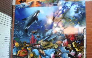 Installation of Aquarium alu wall murals