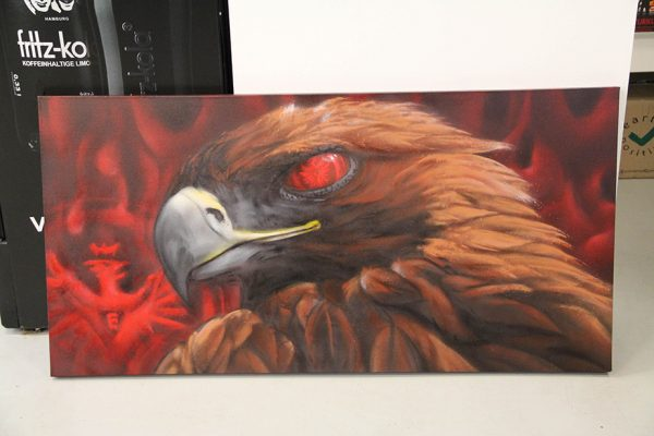 UF 97 Mascot fan art on canvas