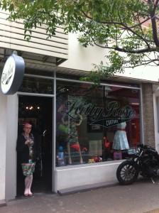 Kitty Rose Shop front graffiti signage
