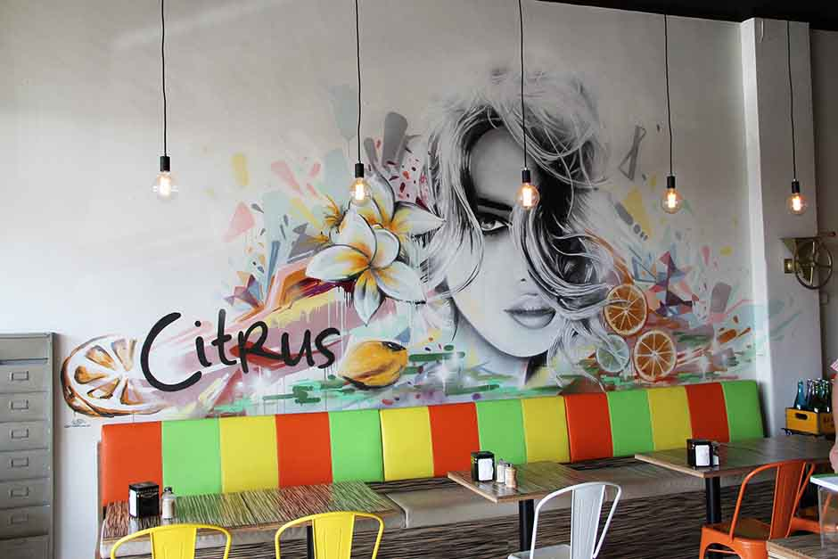 Citrus Cafe Street Art