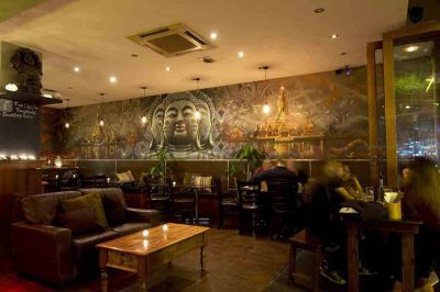 Buddhas Belly Restaurant Feature Wall
