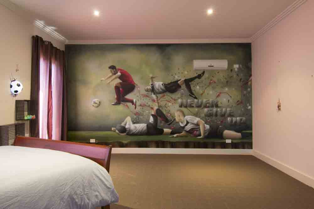 C. Ronaldo Graffiti Kids Room