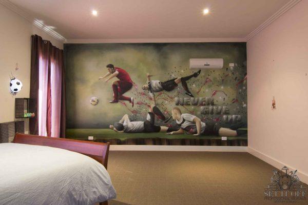 C. Ronaldo Graffiti - Kids RoomMural