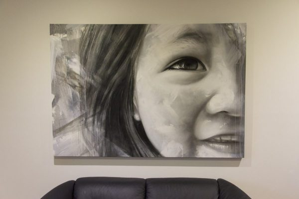 Portrait mural done on canvas on request