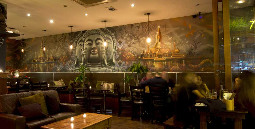 Buddhas Belly Feature Wall