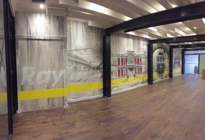 Graffiti murals interior design for Ray White office