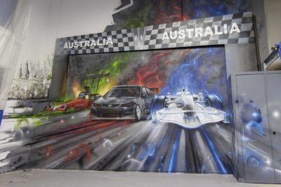 Mr Slot Car Graffiti Interior