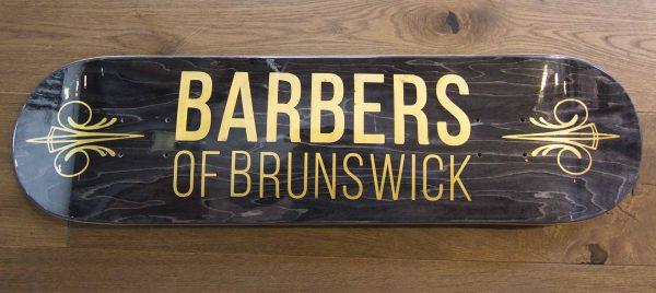 Barbershop graffiti branding design.