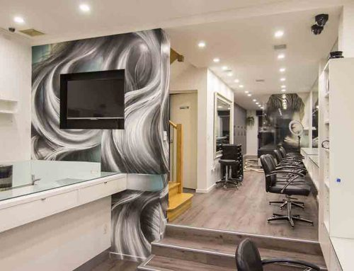 Hair Salon Interior Mural