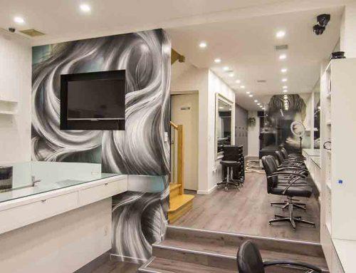 Hair Salon Interior Mural