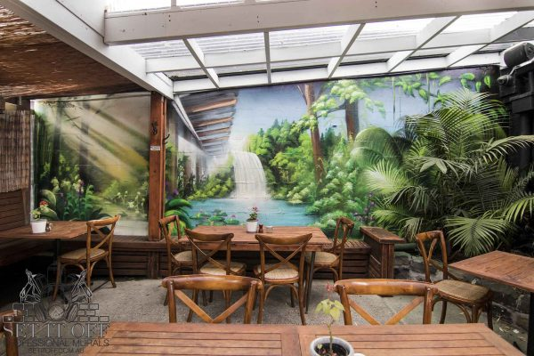 Forest Cafe Courtyard Mural